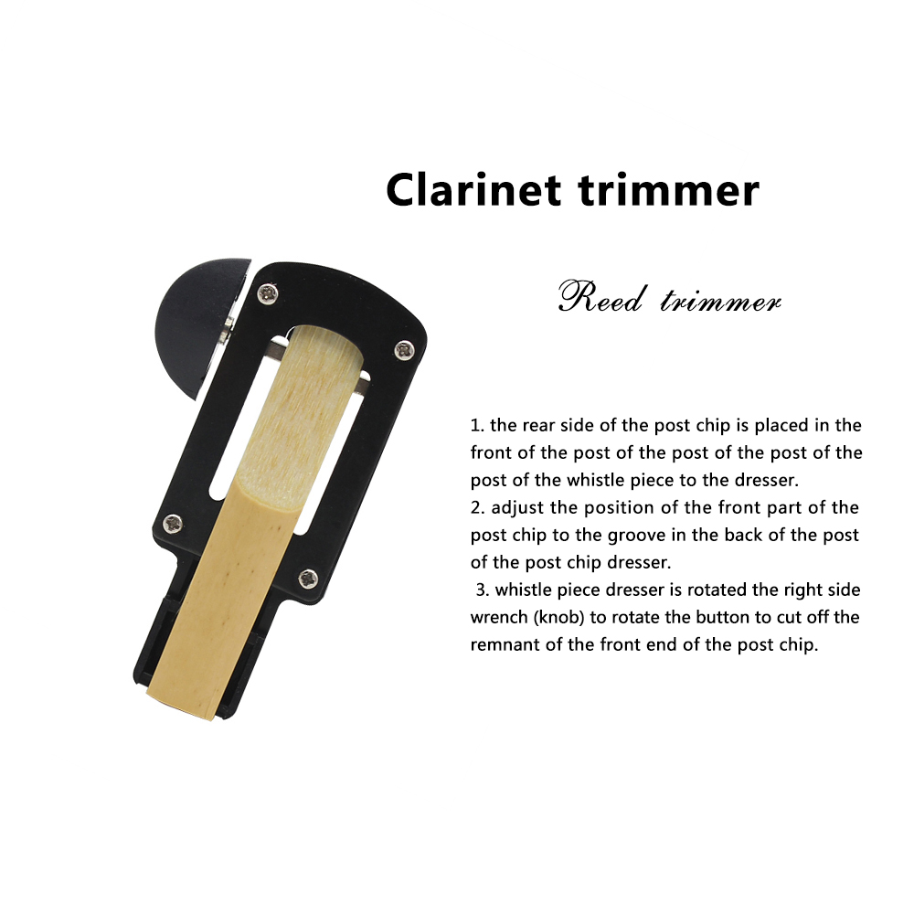 SLADE Clarinet Reeds Fixer Reed Trimmer Cutter Black Accessories Reed Corrector Repair Tool Clarinet Accessories