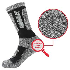 Image 4 - YUEDGE Brand Mens Socks Cushion Cotton Crew Outdoor Sports Walking Hiking Socks Thick Winter Warm For Men 5 Pairs