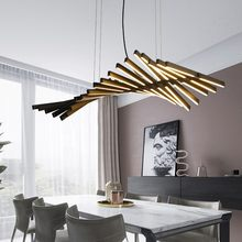 Modern LED Chandelier lighting Nordic Black/White Office Pendant lamps living room home hanging lights dining room Bar fixtures
