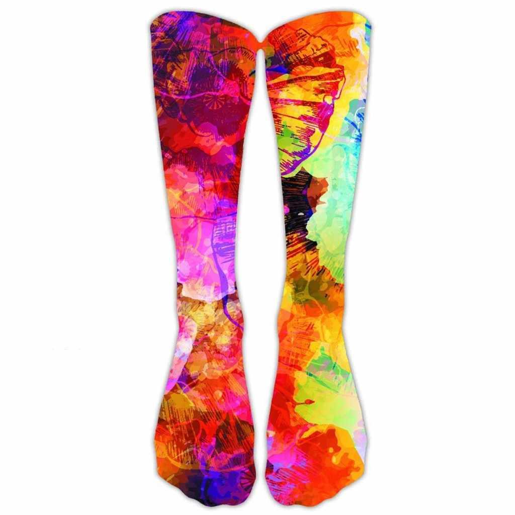 2020 Unisex deniz plaj manzara rahat iş iş çorabı 3D peyzaj soyutlama baskı uzun spor çorapları calcetines