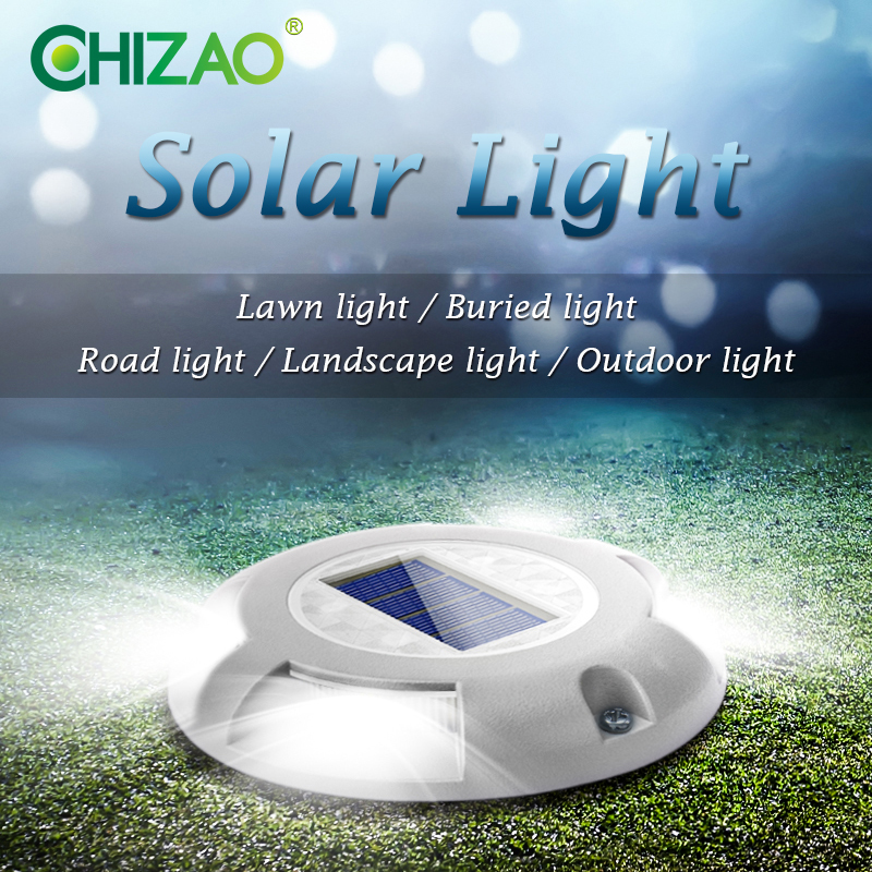 CHIZAO LED Solar Outdoor Buried Light Landscape Lamp Safety Emergency Decorative Lights For Garden Lawn Road Sidewalk Stair Deck