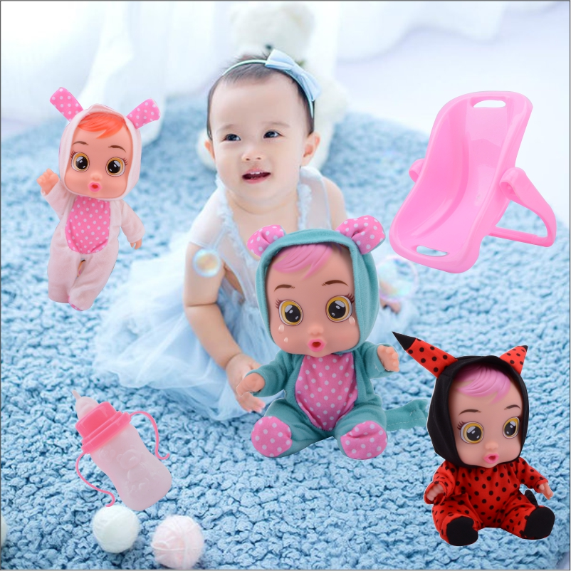 Factory Direct Sale Crying Baby New High Quality Music Silicone Lol Doll With Magic Tears+Rocking Chair For Kids Surprise Gift