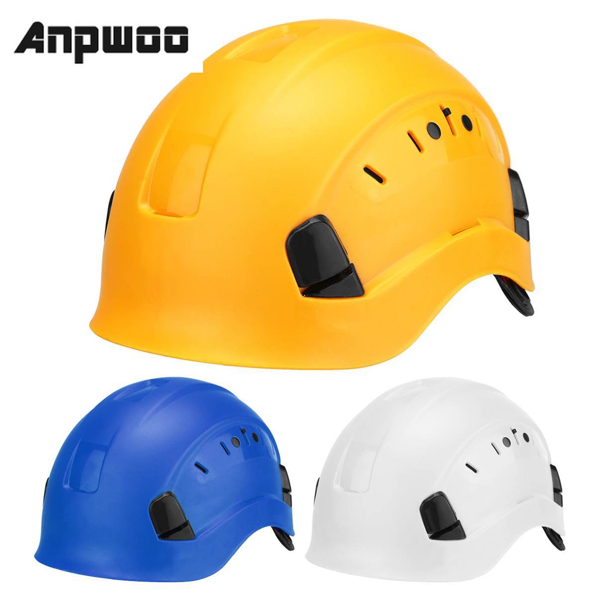 Safety Helmet Hard-Hat Worker Protective Construction Climbing Outdoor Cap ABS Steeplejack title=