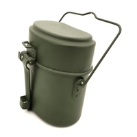 Bento Box Lunch Box Three piece Lunch Box Military Kettle Cookware Cook Set Hiking Lunch Boxes for Outdoor Camping 12