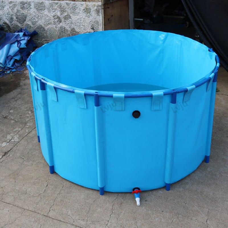 Lvju Multi Size Round Fish Tank Strong PVC Pipe Fish Pond For Aquaculture Farm House Use
