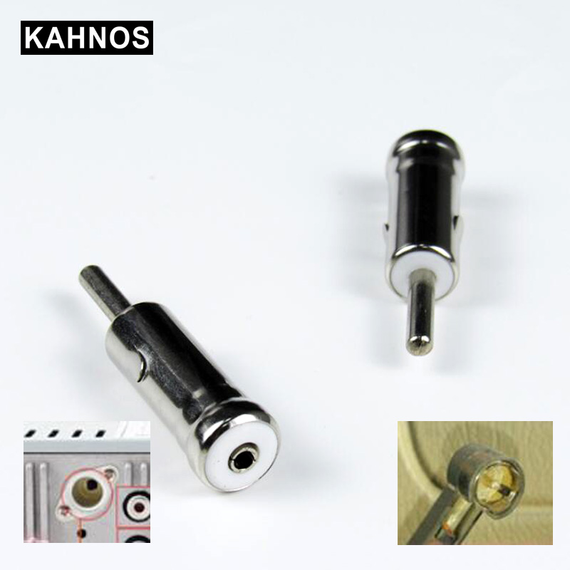 Car Vehicles Radio Stereo Iso To Din Aerial Antenna Mast Adapter Connector Plug Car Stying For Vw Ford Chevrolet Nissan Peugeot Aerials     - title=