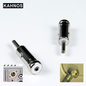 Car Vehicles Radio Stereo Iso To Din Aerial Antenna Mast Adapter Connector Plug Car Stying For Vw Ford Chevrolet Nissan Peugeot(China)
