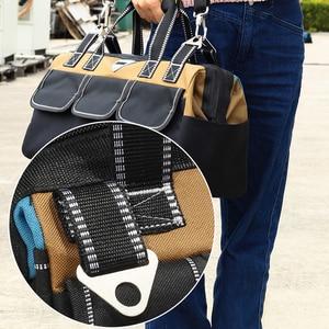 Image 3 - 도구 가방 휴대용 전기 가방 다기능 수리 설치 캔버스 대형 두꺼운 도구 가방 작업 포켓