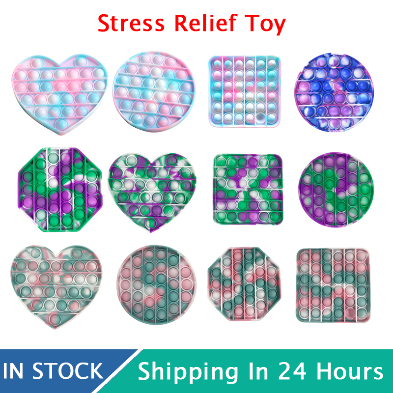 Funny Popit Fidget Toy Antistress Toys For Adult Children Push Bubble Fidget Sensory Squishy Jouet Pour Autiste ??????????*