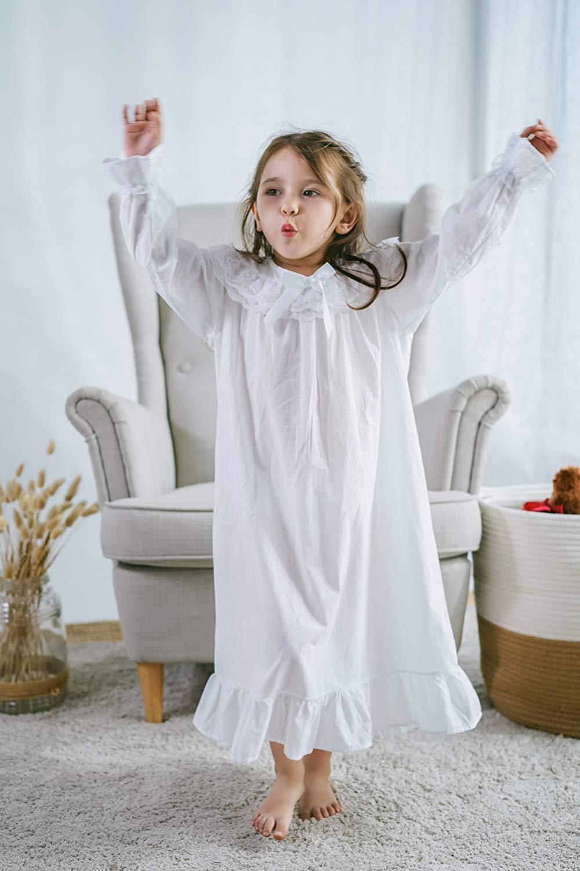 Baby Girl Clothes Princess Nightgown Long Sleeve Sleep Shirts Nightshirts Pajamas Christmas Dress Sleepwear kids for 3-12 Years (4)