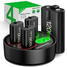 Batterie Rechargeable 4X1200mah avec station de chargement USB, pour manette de jeu sans fil Xbox série X/S/Xbox One X/Xbox One S