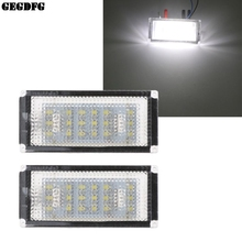 2Pcs Car Number License Plate Light Lamp For BMW BMW 325i 3 Series 328i 318 320 E46 2D M3 Facelift icoco 2016 new 2pcs error free white 18 led number license plate lights for bmw e46 2d m3 hot selling