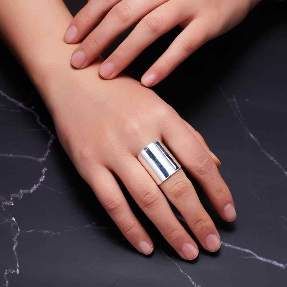 Anillo de corazón de flor de tamaño abierto Ajustable de Rinhoo anillo de dedo de acero inoxidable anillos de joyería de fiesta de Damas