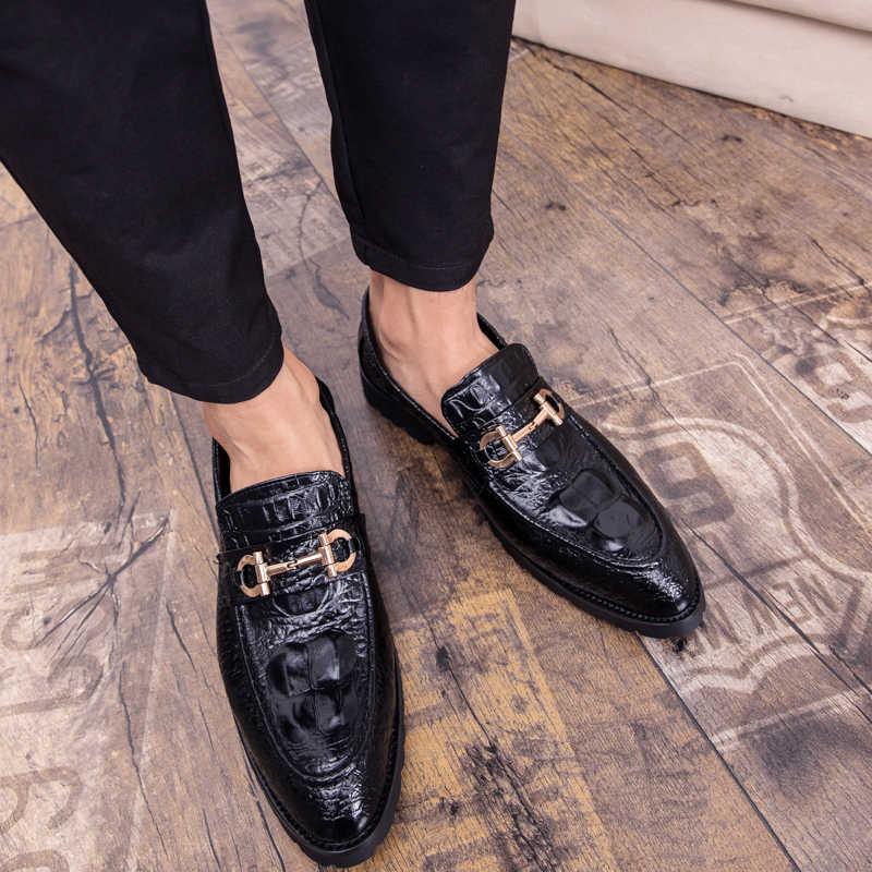 2019 nieuwe zomer mannen schoenen slip-on schoenen mannen luxe brogues heren klassieke oxford schoenen comfortabele mocassin kwastje loafers