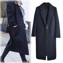 Женское шерстяное пальто с длинным рукавом Осень зима 2020