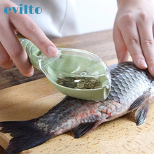 1pcs Fish Cleaning Scraping Scales With Knife Device Kitchen Cleaning Tools Remove Fish knife Cleaning Peeler Scaler Scraper