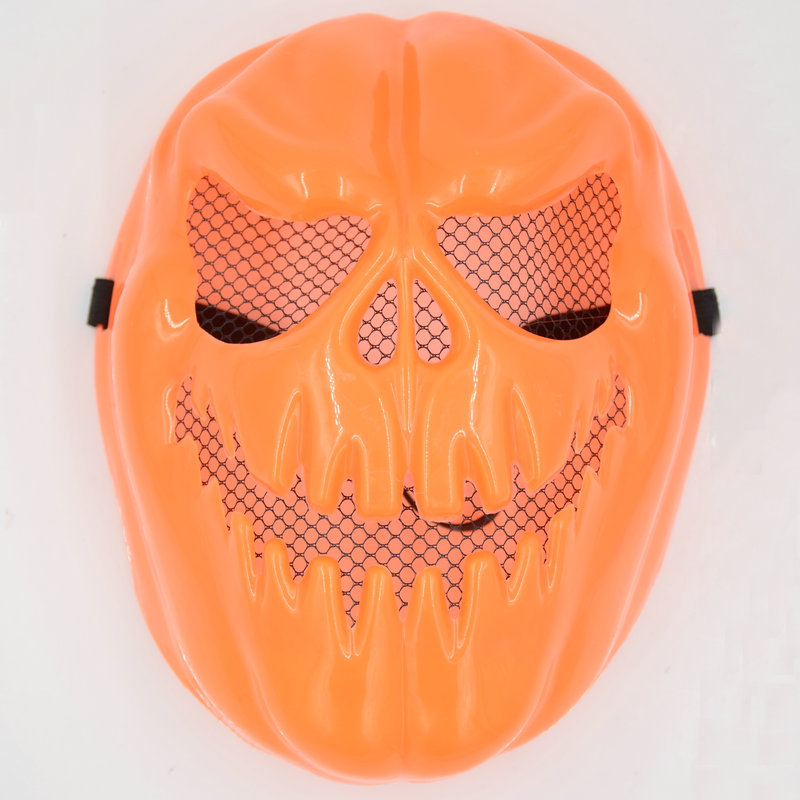 1Pcs Classic Fashion Halloween Orange Scary Skull Sharp Tooth Mask Toys High Quality Creative Children DramaShow Villain Props