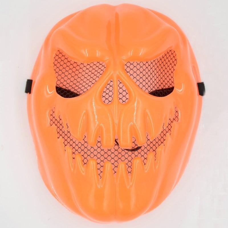 1Pcs Classic Fashion Halloween Orange Scary Skull Sharp Tooth Mask Toys High Quality Creative Children DramaShow Villain Props