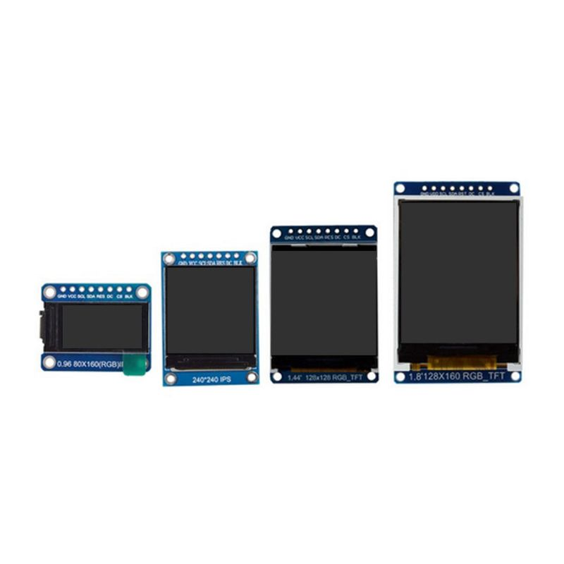 TFT Display 0.96 1.3 1.44 1.8 Inch IPS 7P SPI HD 65K Full Color LCD Module ST7735 / ST7789 Drive IC 80*160 240*240 (Not OLED)