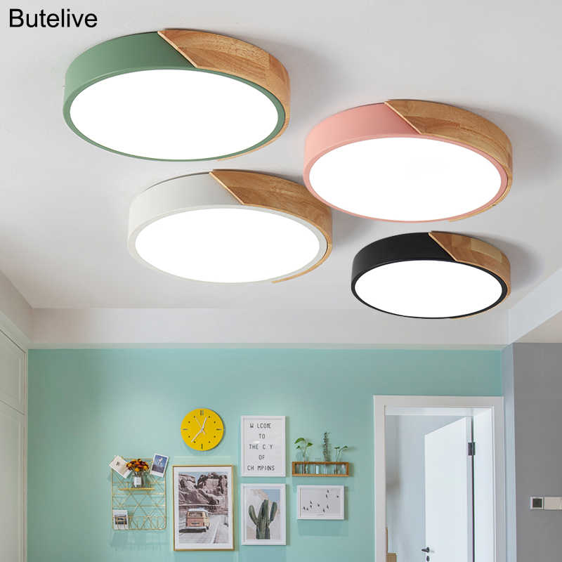 5cm Ultra Thin Led Ceiling Lights for Living Room Lights Dimmable Modern Ceiling Lamp Nordic Bedroom Kids Room Plafonnier Led