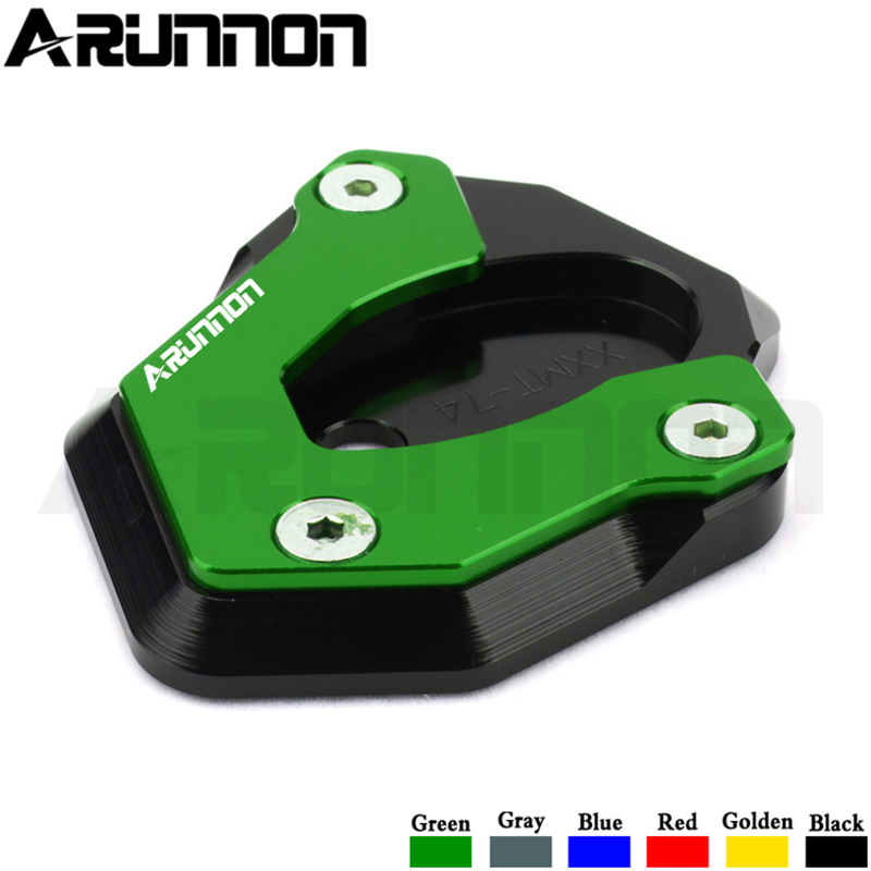 Color : Green Motorcycle Accessories Kickstand Foot Side Stand Extension Pad Support Plate For KAWASAKI Z900RS Z900 RS Z 900RS 2017 2018 2019
