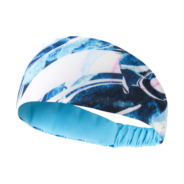 Breathable Absorbent Sports Headband Lycra Sweat Perspiration Basketball Fitness Running Sweat Head Band Belt 1