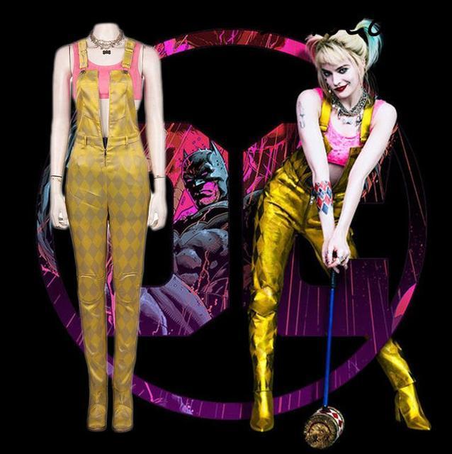Batman pájaros de la presa y la fantasía de la emancipación de una Harley Quinn Cosplay disfraz mujeres adultas traje de Halloween conjunto de zapatos