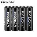 4Pcs AA Batterie Akkus 1,2 V AA 3000mAh Ni-Mh Pre-aufgeladen Akku 2A Baterias für kamera Taschenlampe