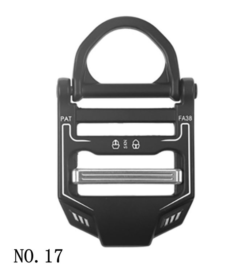 For 38mm Wide Strap Tactical Belt Buckle Zinc Alloy D-ring Black Buckles For Luggage Clothes Webbing Clip For Diy Accessory