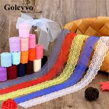 5Meter Colorful Acrylic Yarn Crochet Lace Trims Edge Colthing Sofa DIY Sewing Crafts 3cm Width