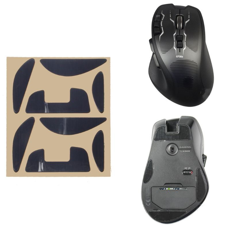2Sets/Pack Original Hotline Games Competition Level Mouse <font><b>Feet</b></font> Skates Gildes for Logitech <font><b>G700</b></font> G700S Laser Mouse 0.6mm Thickness image
