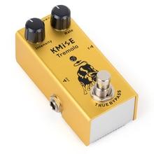 Kmise gitar efektleri Tremolo Pedal Mini tek DC 9V yoğunluğu hızı kontrol gerçek Bypass