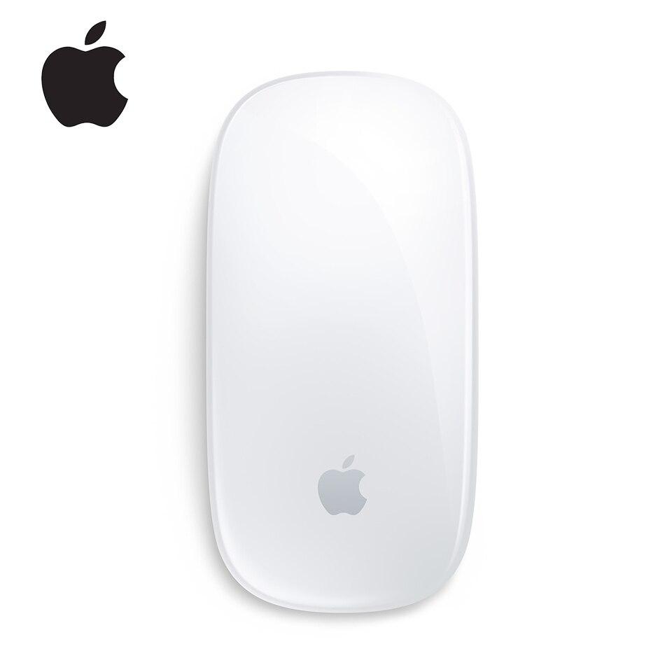 Original apple mouse mágico 2 mouse sem fio bluetooth para mac livro macbook ar mac pro design ergonômico multi toque recarregável