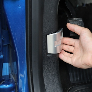 Image 2 - Auto Abs Zilver Motorkap Schakelaar Trim Decoratie Voor Ford F 150 2015 2020