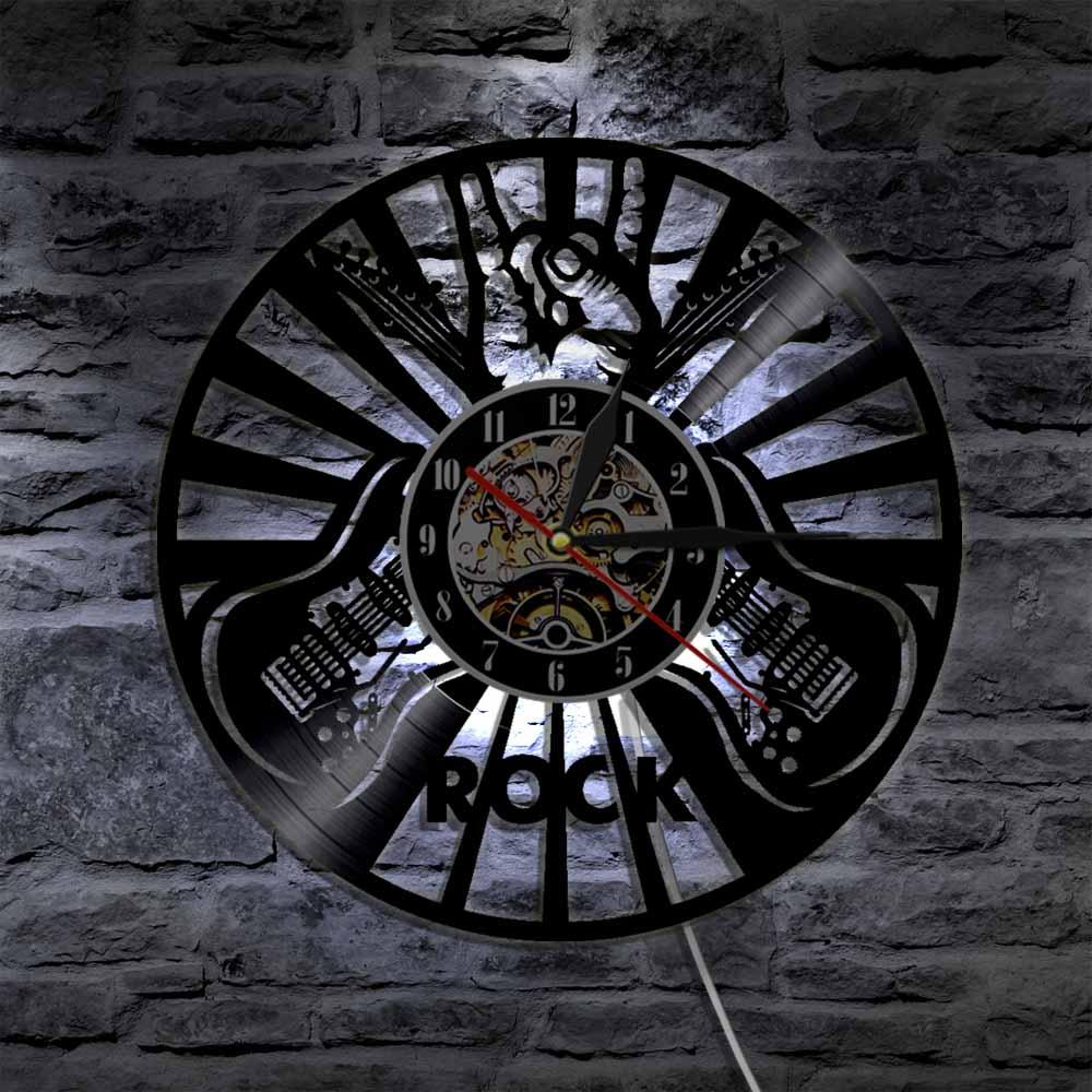 Guns N Roses Vinyl Wall Clock Rock Band Unique Gifts Living Room Home Decor