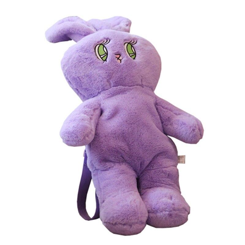 1 Pcs Cute Plush Rabbit Backpack Kawaii Bunny Backpack Stuffed Rabbit Toy Children School Bag Gift Kids Toy For Little Girls Bag