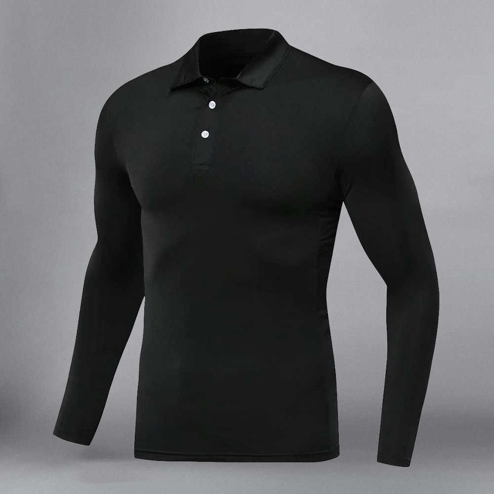 2020 Mannen Golf Shirt Lange Mouw Ademend Golf Wear Mannen Sportkleding Golf Wear Revers Sportkleding Quick-droog