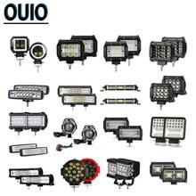2pcs/set LED Light Bar 20W-324W Work 4x4 Offroad Motorcycle Bus Boat ATV SUV Trailer Spot Flood Car 12V 24V DRL Lamp