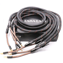De Een Luidspreker Kabel Spade Plug hifi luidspreker kabel 100% gloednieuwe audiophile luidsprekerkabel 2.5 M met originele doos