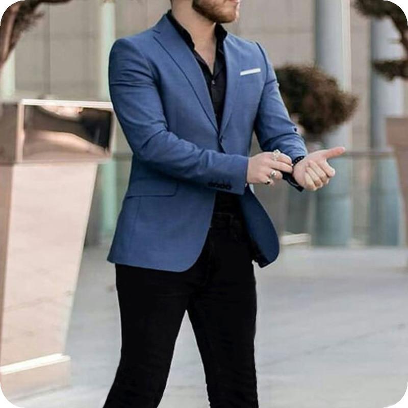 navy blazer black pants Latest Design Casual Navy Blue Suits Men 2020 Business Blazer Black Pants  trajes de hombre Costume Homme Slim Terno Masculino Suits  - AliExpress