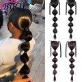 Женские прямые синтетические волосы BUQI, афро-пышная лента для конского хвоста, наращивание волос
