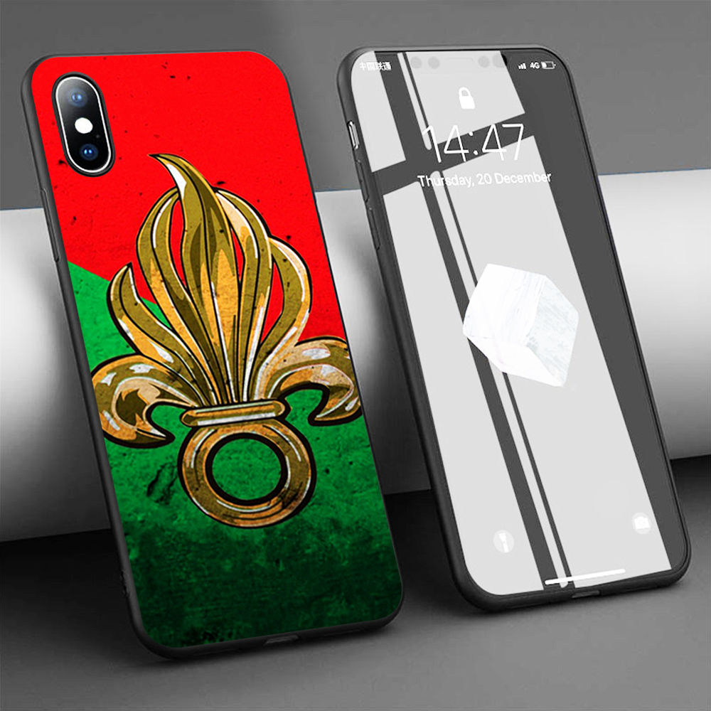 Coque french foreign legion logo Soft Silicone Phone Case for iPhone 11 Pro Max X 5S 6 6S XR XS Max 7 8 Plus Case Phone Cover image