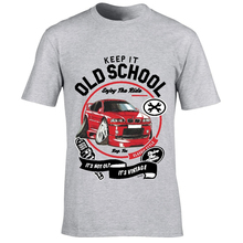 Keep It Old School Motif and Licensed Retro Red German Beemer 3 Series E46 M3 car Image gift Mens Lt. Grey t-shirt top