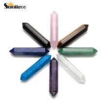 Sunligoo – ensemble de 6 pierres précieuses Chakra, cristal, Quartz, guérison, thérapie, méditation, décoration