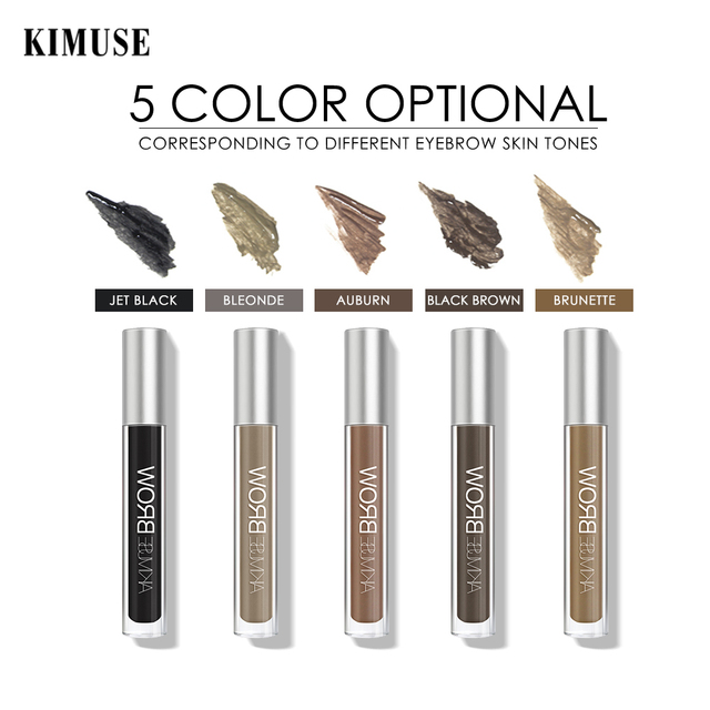 KIMUSE Eyebrow Gel Dye Waterproof Eyebrow Shasow Eyebrow Tint Eye Makeup Eyebrow Pencil Long Lasting Cosmetic Eyebrow Enhancer 5