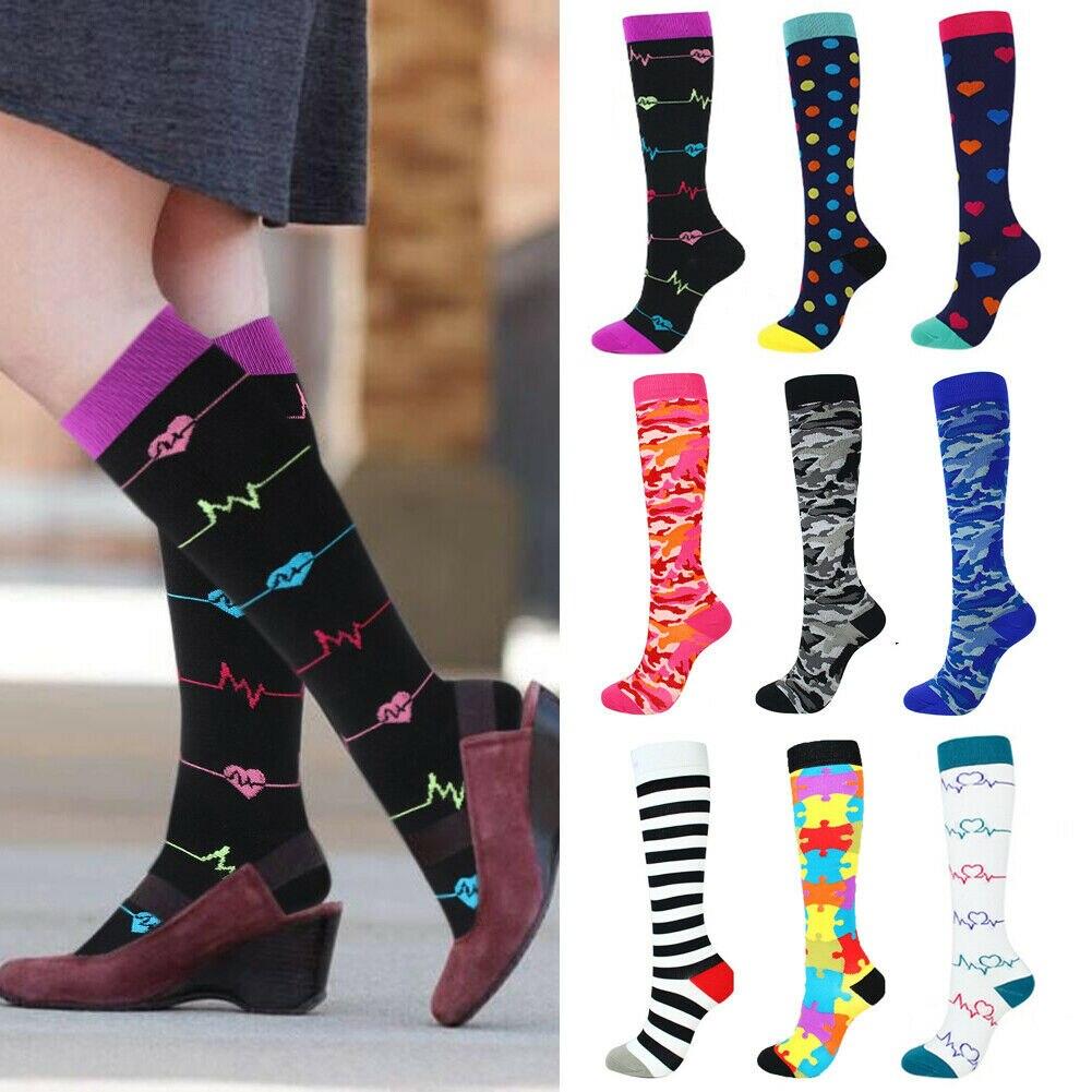 Compression Socks For Women Men 21-59CM Medical Nursing Travel Crossfit Gift
