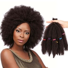 Braid Hair Spring Curly Crochet Afro Kinky Synthetic Black 10inch Sunshine