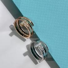 Новый t1 стерлингового серебра кольца для женщин циркон обручальные