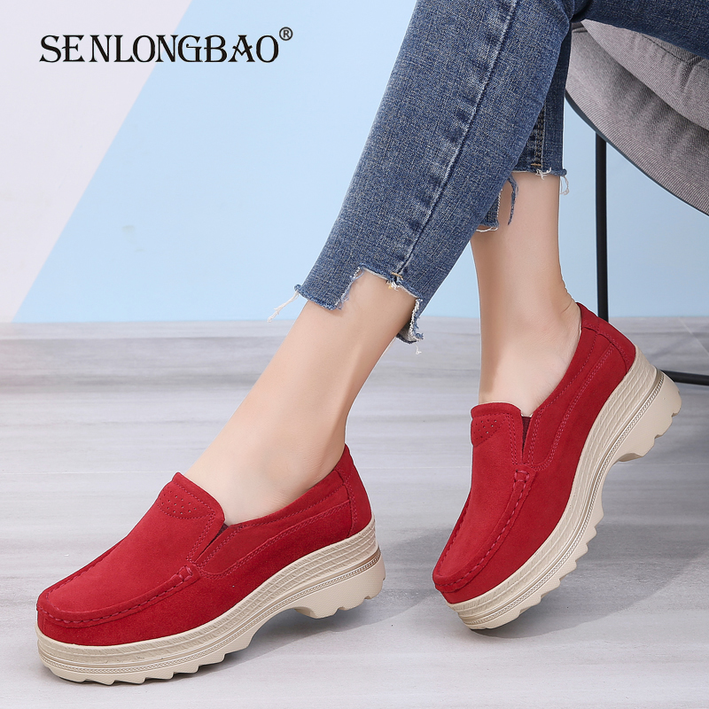 Shoes Women Moccasins-Loafers Suede Flat Autumn Fashion New Non-Slip Casual