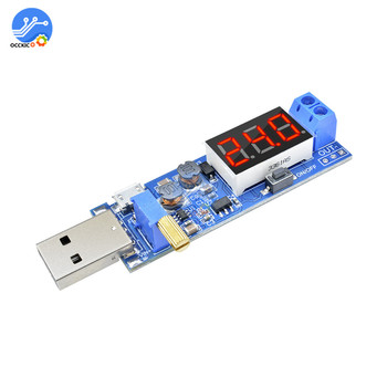 USB Charger Module DC-DC 5V to 1.2V-24V Adjustable Converter Power Supply Battery Charging Board with LED Display image